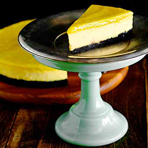 Chocolate Yuzu Lime Cheesecake