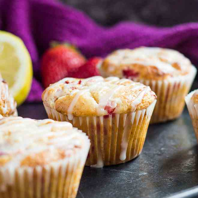 Strawberry Lemon Muffins