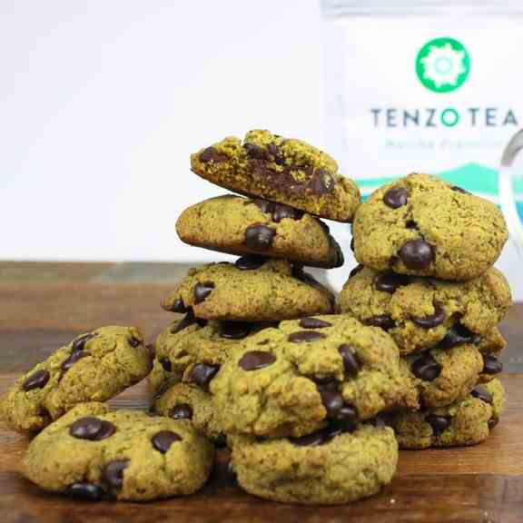 Healthy Matcha Mint Chocolate Chip Cookies