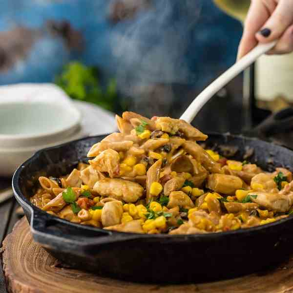 Southwest Chicken Alfredo Skillet