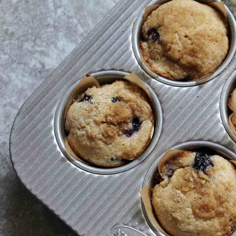 Easy Blueberry Streusel Muffins