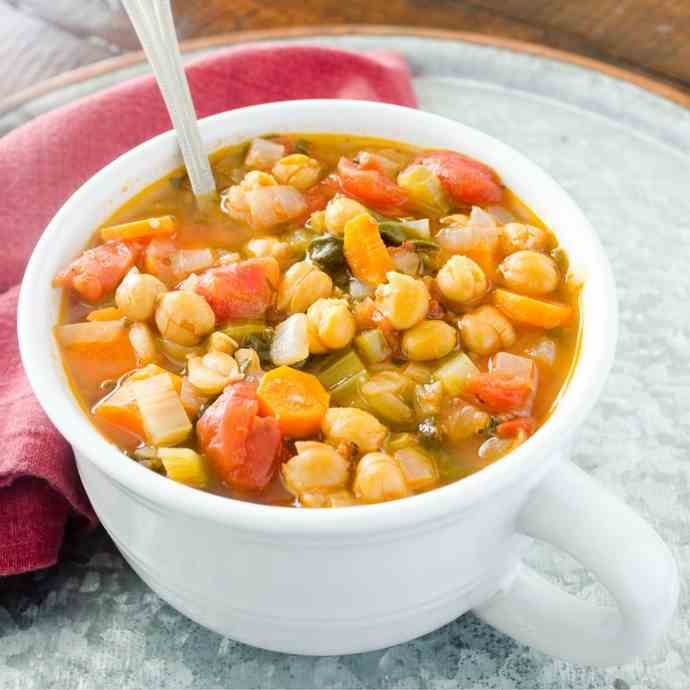 Vegan Italian Garbanzo Bean Soup