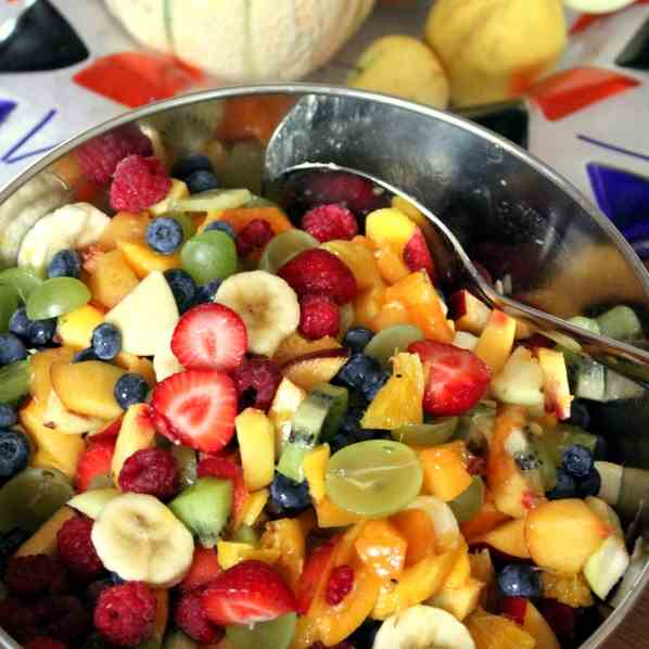 Fruit Salad with Apple Liqueur
