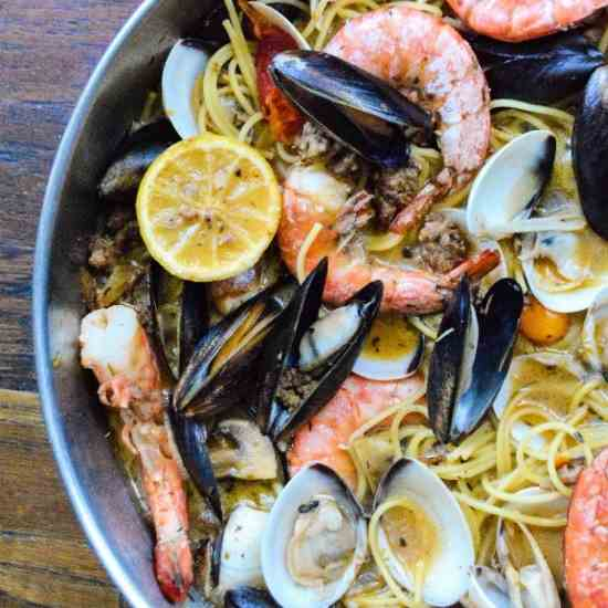 Sausage and Shellfish Pasta