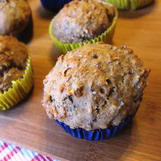 Banana Chia Seed Muffins with Pecans