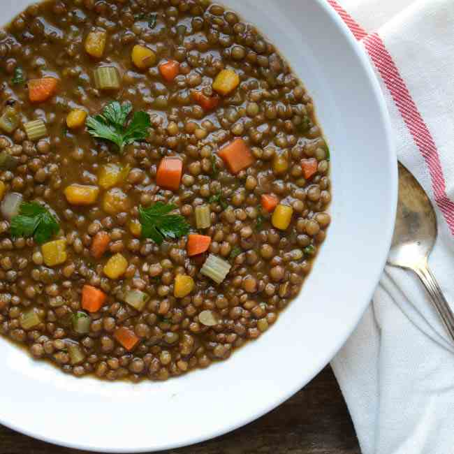 Hearty Lentil and Butternut Soup