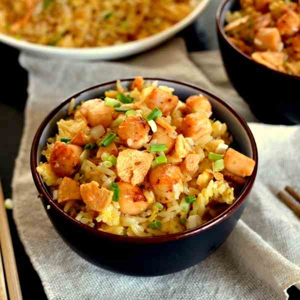 Scallop Fried Rice with XO Sauce