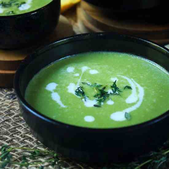 Chilled Green Pea - Onion Soup