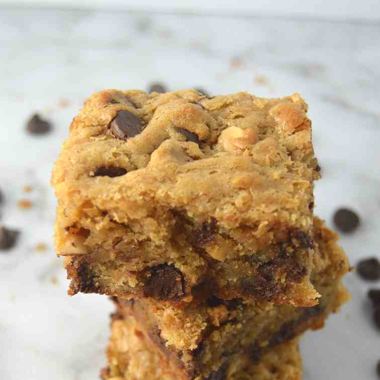Peanut Butter Chocolate Cookie Bars