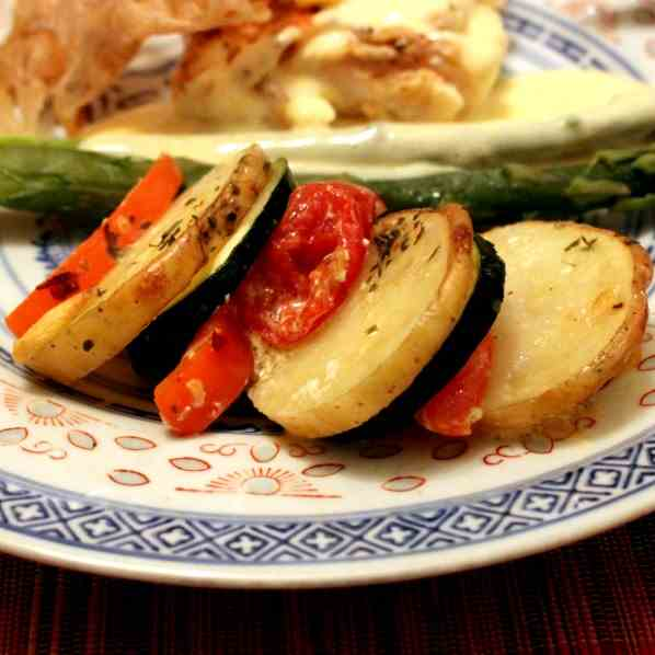 Potato and Vegetable au Gratin