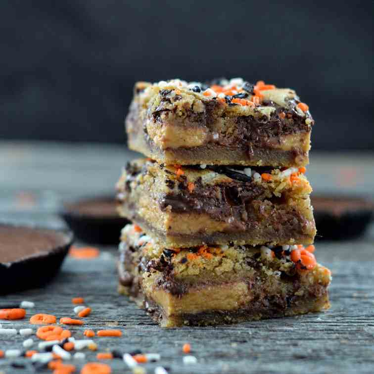 Candy Stuffed Cookie Bars