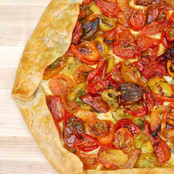 Heirloom Tomato and Ricotta Crostata