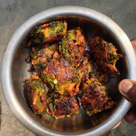 Moringa leaves fritters