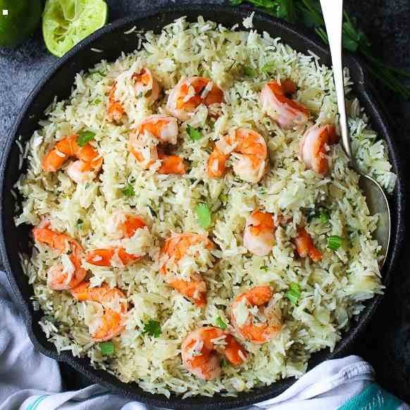 Cilantro Lime Shrimp - Rice