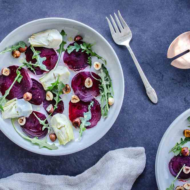 Winter Beet - Artichoke Salad (vegan - gf)