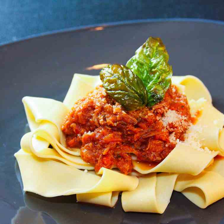 Wild Boar Ragu with Pappardelle