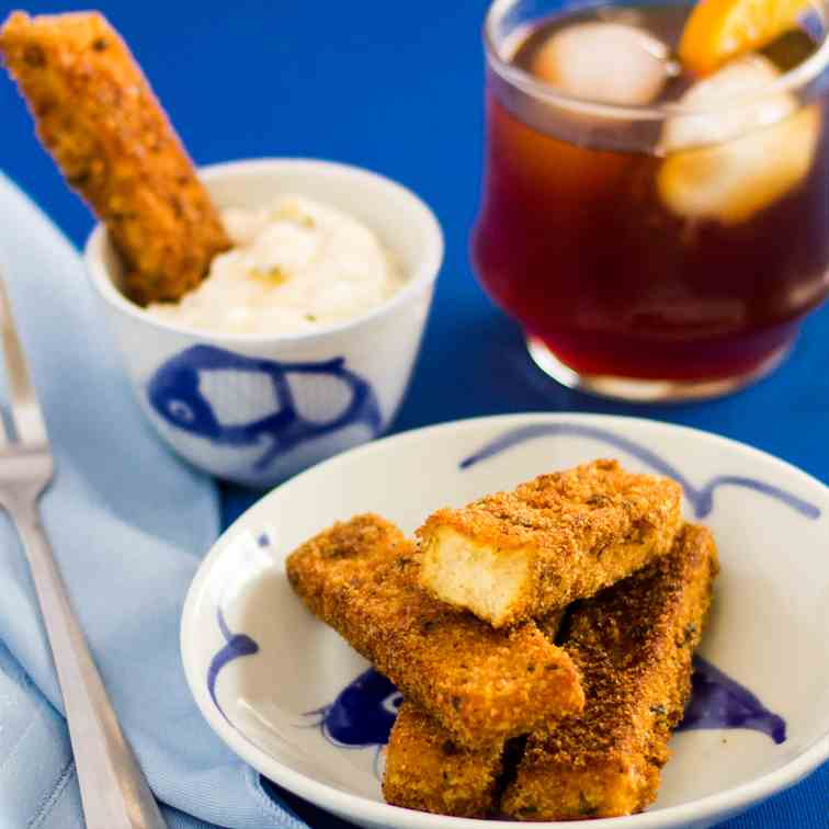 Tofu Fish Sticks - Fried or Baked