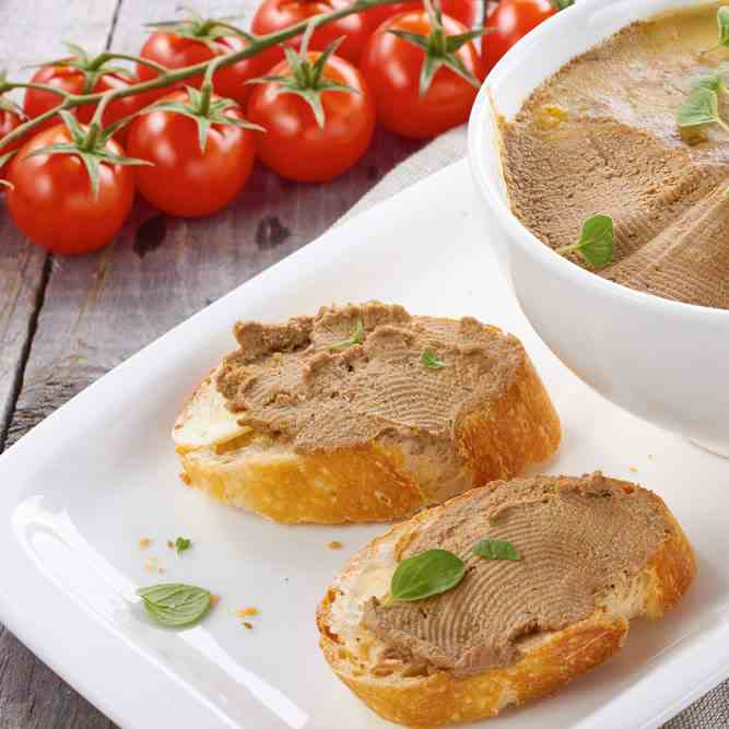 Smooth Chicken Liver Pate In One Pan