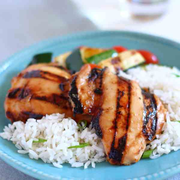 Grilled Chicken with Fig - Dijon Glaze