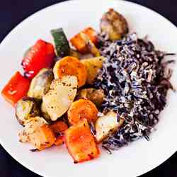 Roasted Vegetables with Wild Rice