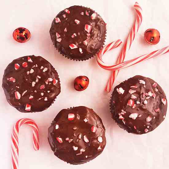 Peppermint Brownie Muffins