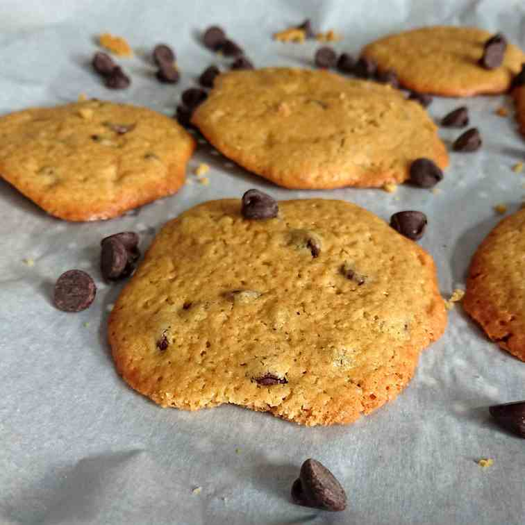 Chocolate Chip Cookies with Chickpea Flour