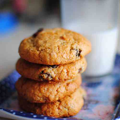 Rum & Raisins Choc Chip Cookies