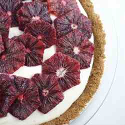 Cream Cheese Pie with Blood Orange Slices