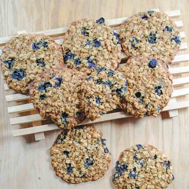 Lemon And Blueberry Oatmeal Cookie Recipe