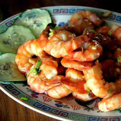 Chinese Garlic Prawns