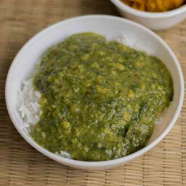 Spinach Lentils Curry