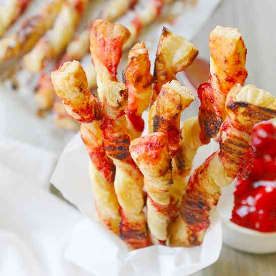 Cherry Pie Cinnamon Sticks