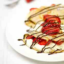 Strawberry & Cream Pancakes