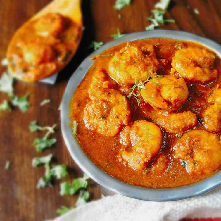 Prawn curry recipe - Indian style