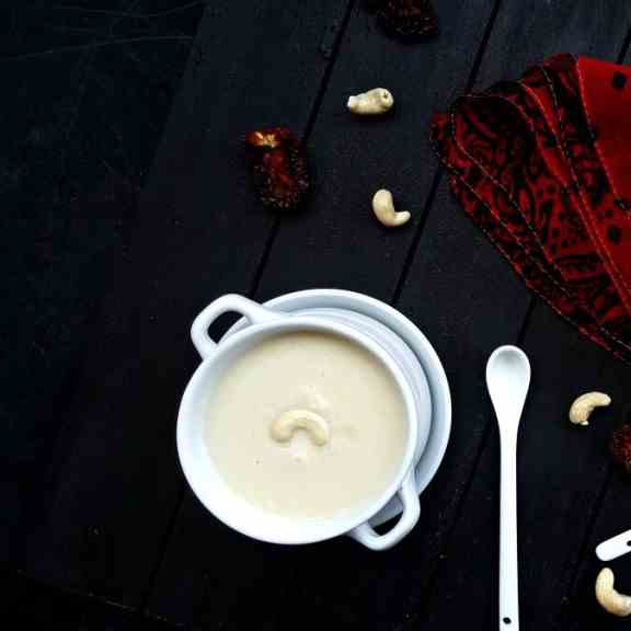 Vegan cashew cream soup