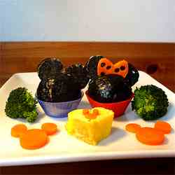 mickey mouse silhouette lunch