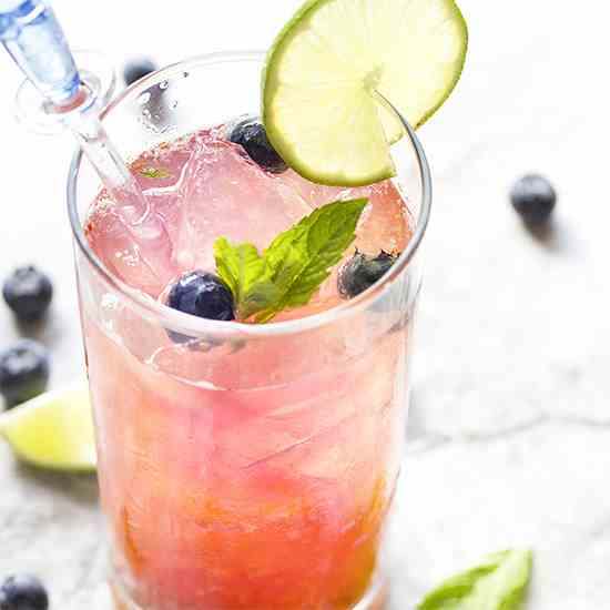 Fresh Blueberry Mojito