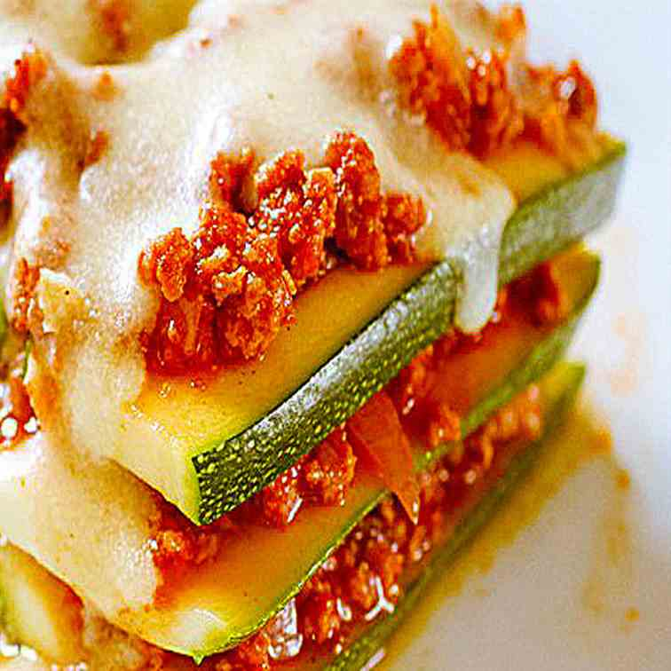 Zucchini Lasagna with Creamy Cheese Sauce