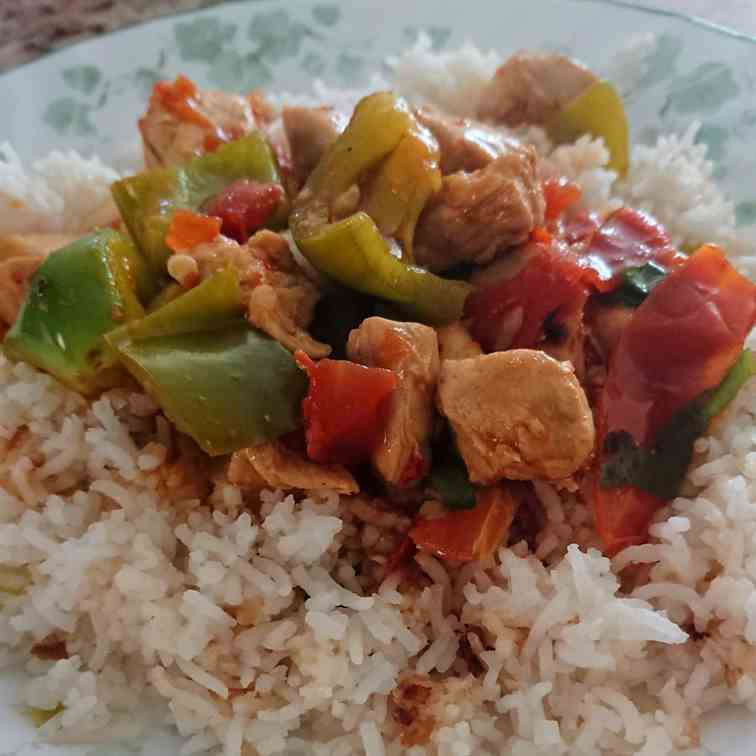 Easy Chicken Shashlik with Gravy
