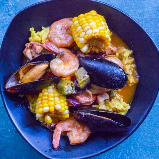 Cajun Seafood and Rice
