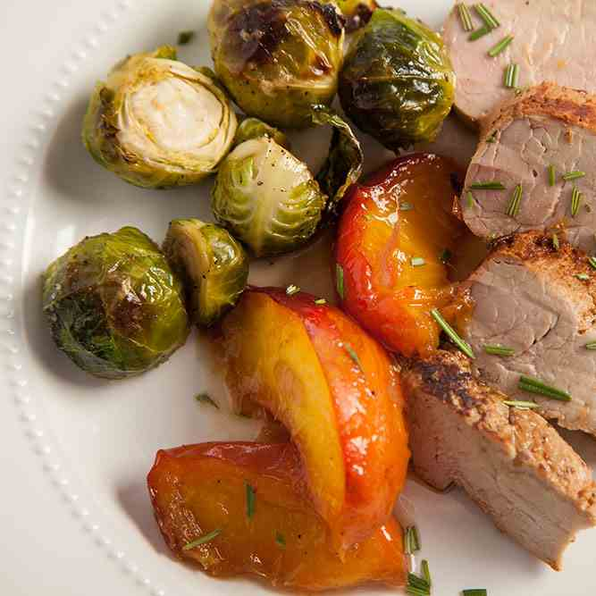 Pork Tenderloin with Sweet - Sour Peaches