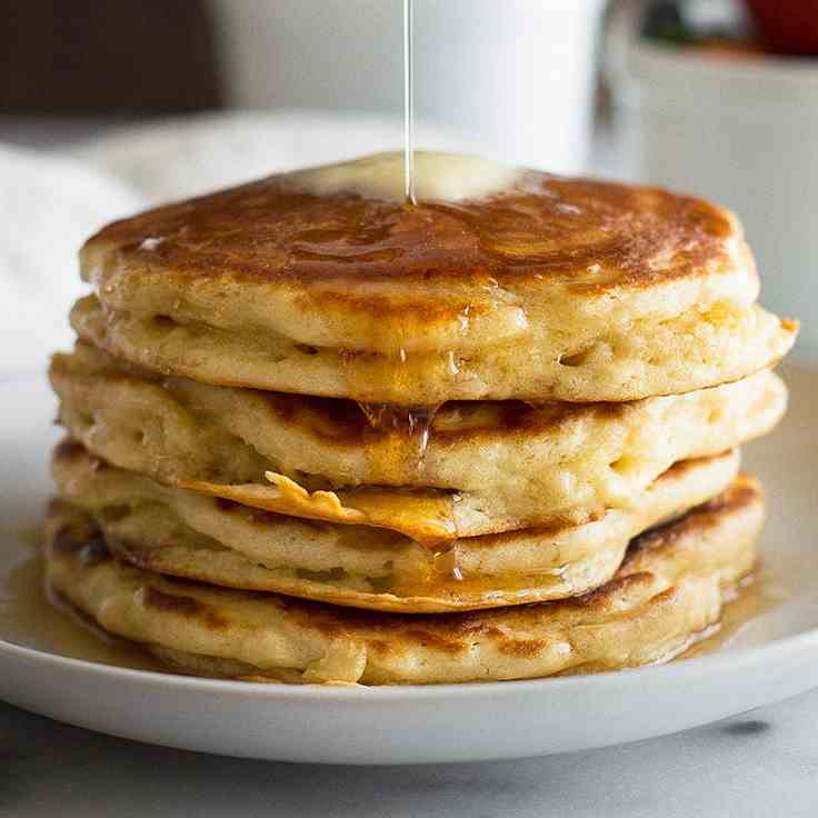 Fluffy Buttermilk Pancakes for Two