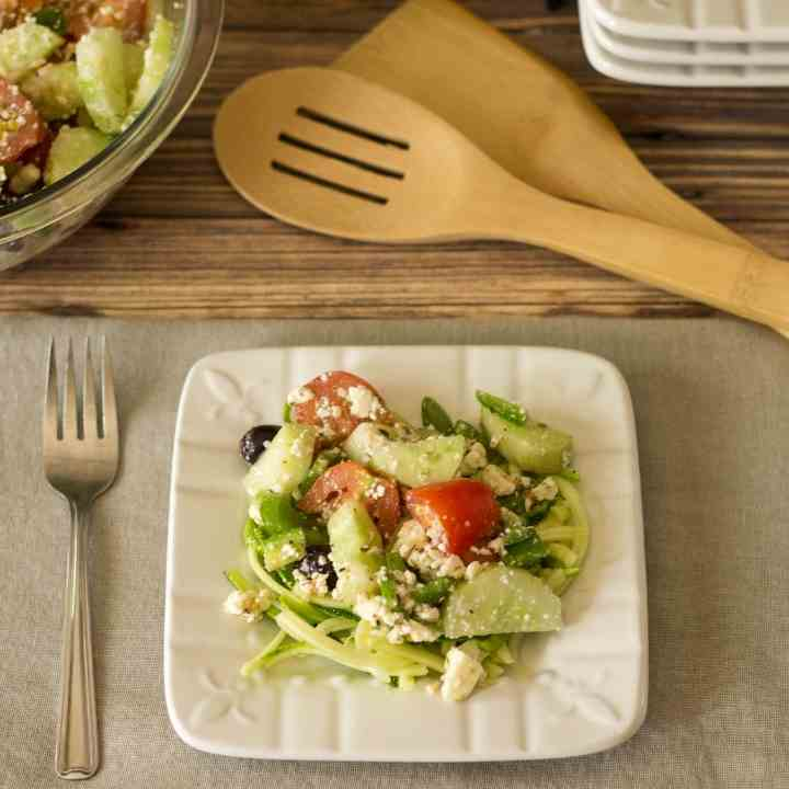 Greek Salad with Zoodles