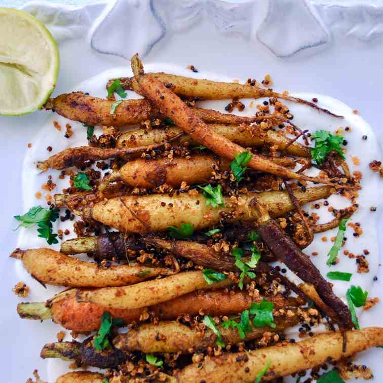 Moroccan carrots with spiced yogurt