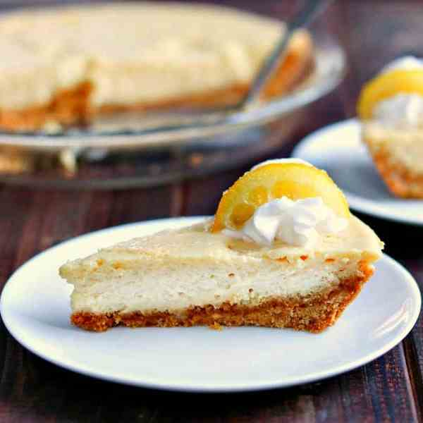 Creamy Lemon Pie with Candied Lemon Slices