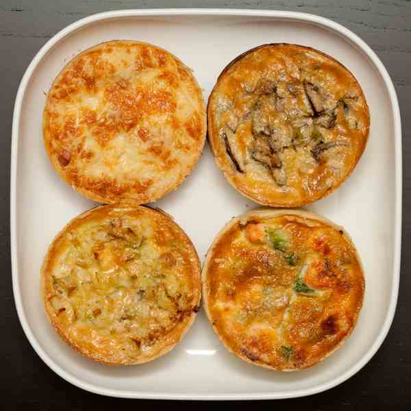 Mini quiches assorties
