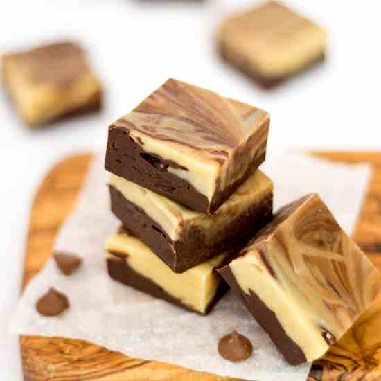 Peanut Butter - Chocolate Swirl Fudge