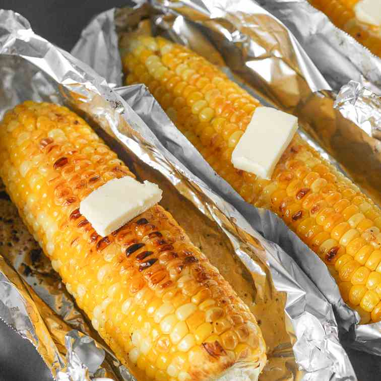 Oven-Roasted Garlic Corn on the Cob