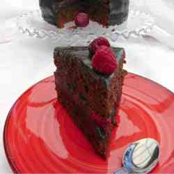 Chocolate and Raspberry Layer Cake