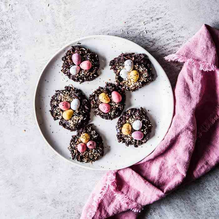 Almond Coconut Bird's Nest Cookies